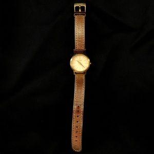 Nixon The Kenzi Skinny Bitch Metallic Gold Watch